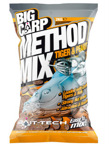 BAIT-TECH BIG CARP METHOD MIX TIGER/PEANUT - 2KG