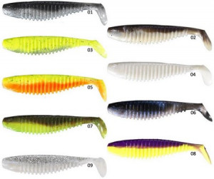 BERKLEY FLEX SLIM SHAD - 12.5CM