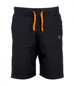 Black & Orange Lightweight Jogger Shorts