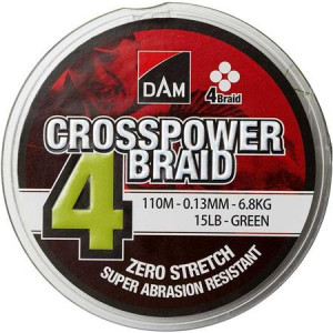 DAM CROSSPOWER 4-BRAID VERT - 110M
