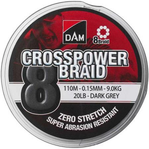 DAM CROSSPOWER 8-BRAID GRIS - 110M
