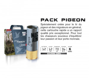 MARY ARM PACK PIGEON - PAR 100