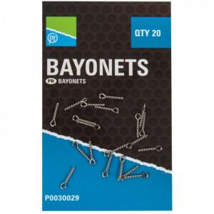 Baionettes à vrilles x 20 PRESTON INNOVATIONS