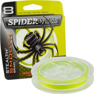SPIDERWIRE STEALTH SMOOTH 8 MOSS - JAUNE - 150M