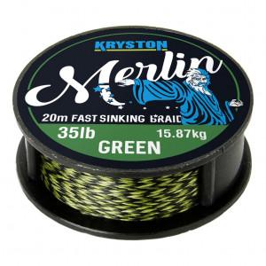 Tresse à bas de ligne carpe kryston merlin weed green 20m