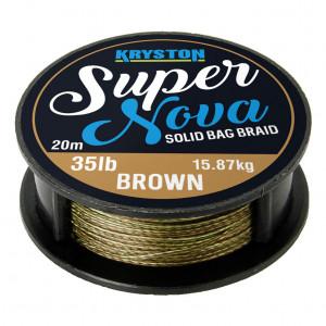 Tresse à bas de ligne carpe kryston super nova gravel brown 20m